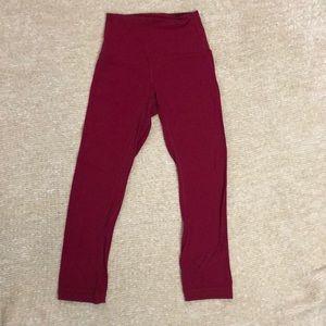 """Lululemon 25"""" Align leggings in ruby red!"""